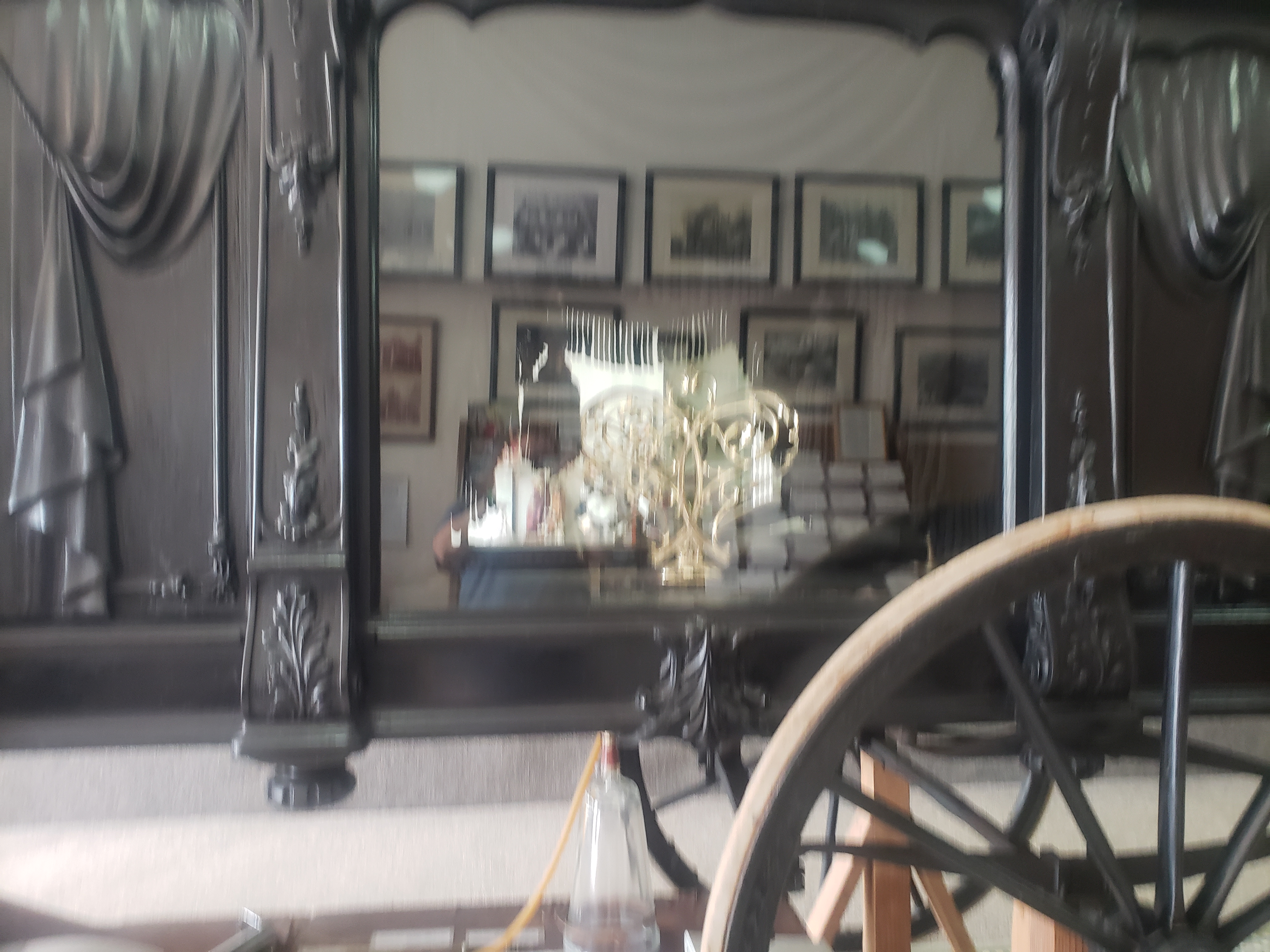 Horse-drawn Hearse. Glass side to view the inside