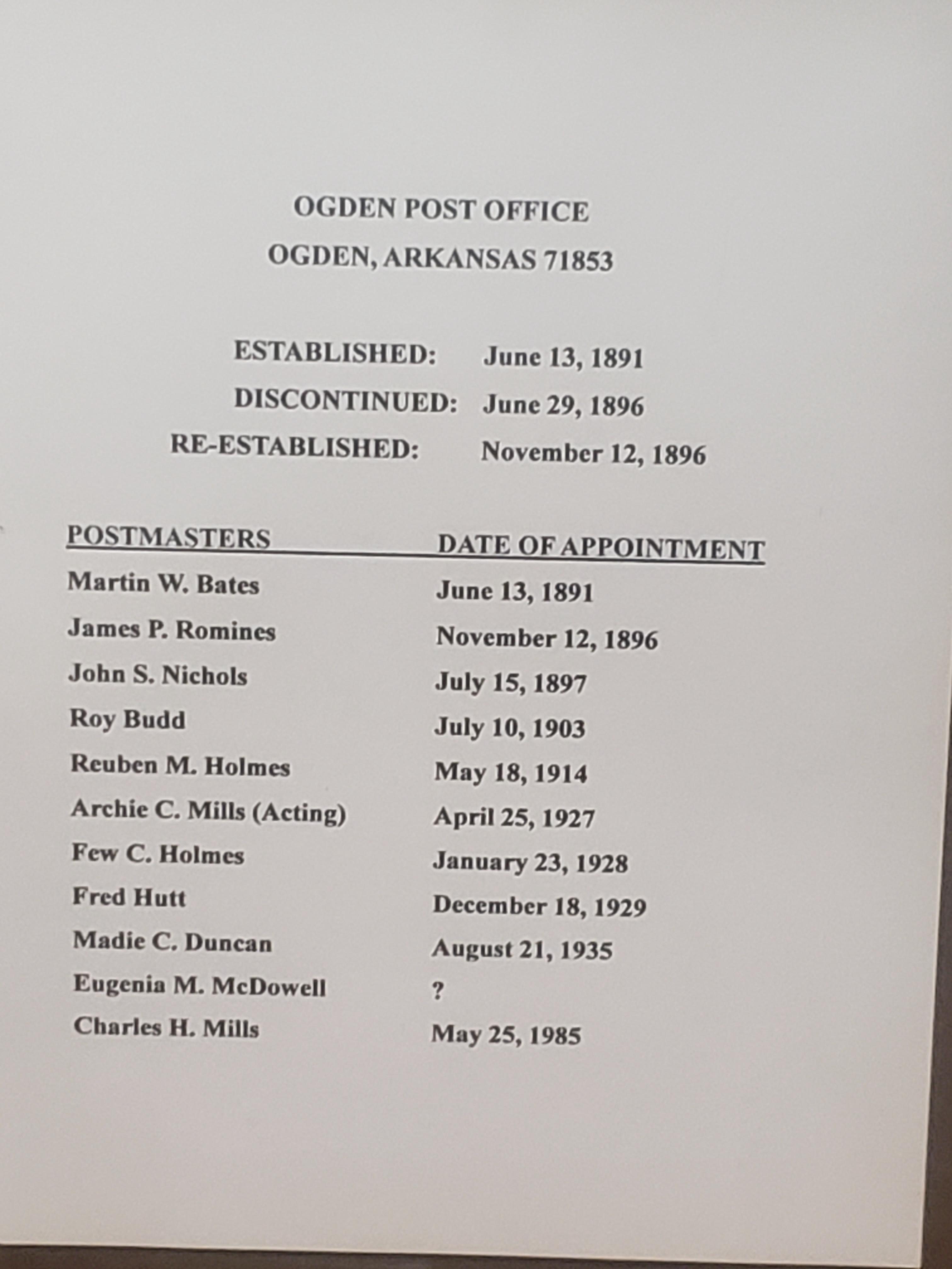 Ogden Post Office