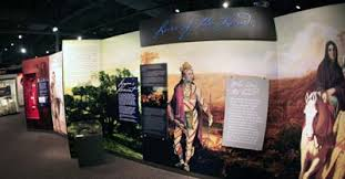 The Native American exhibit located at the Fort Meigs museum includes displays related to American, British, and Native leaders including Tecumseh