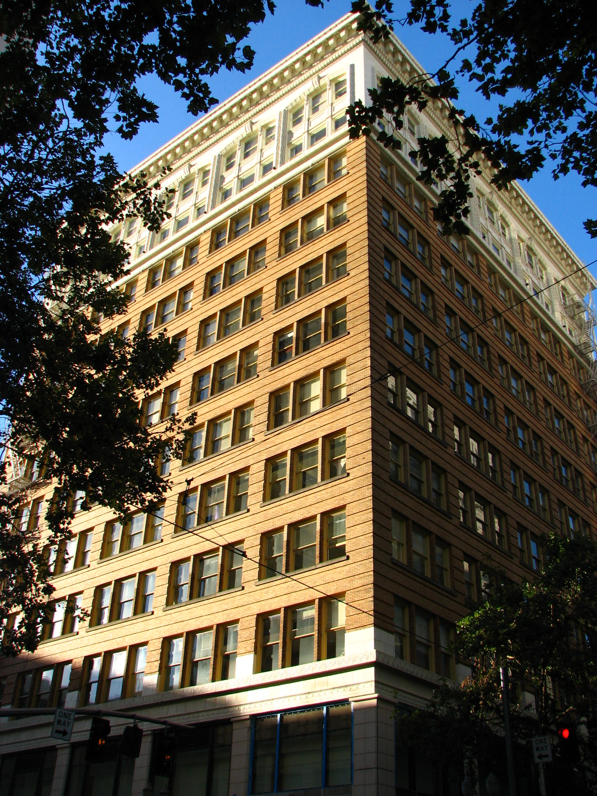 The Falling Building was constructed in 1907 and expanded six years later.