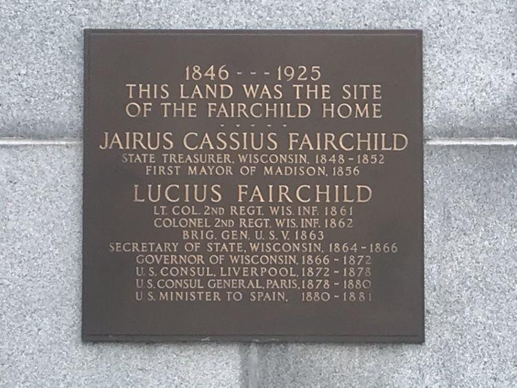 Fairchild Home Historic site marker.