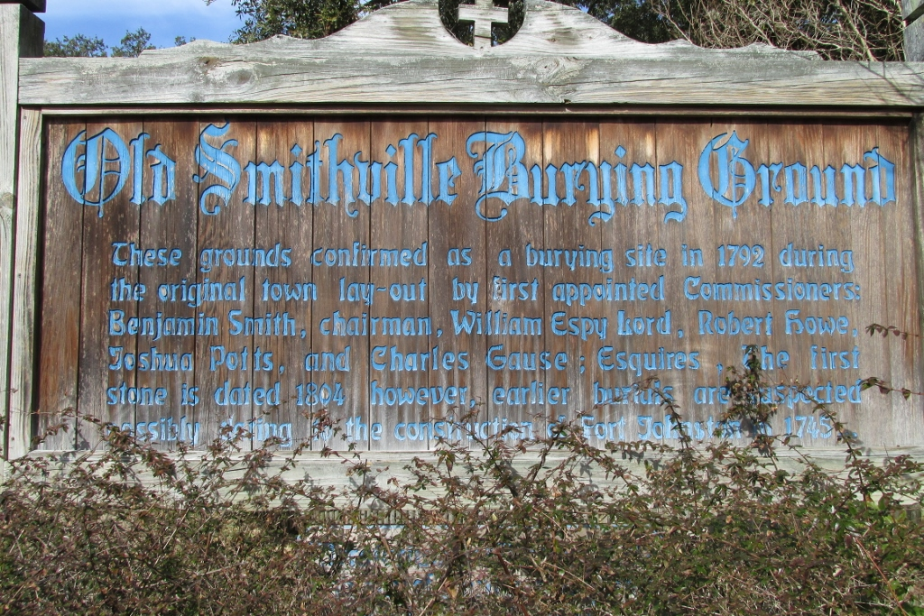 Sign marking the cemetery