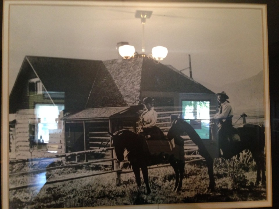 Photo of Grace and Robert Miller that hangs inside of the Miller home