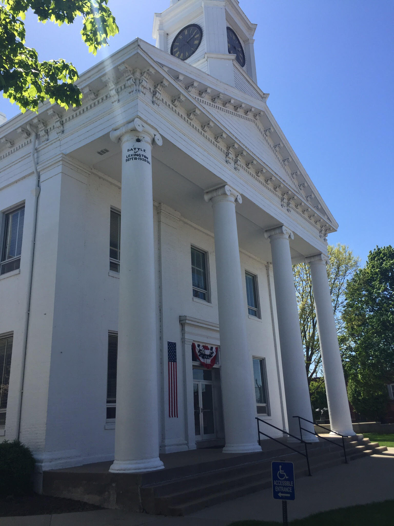 Lafayette County Courthouse was completed in 1847