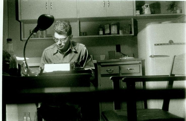 "Ginsberg at work on ""Howl"""