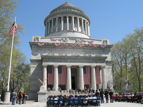 The monument during memorial day.