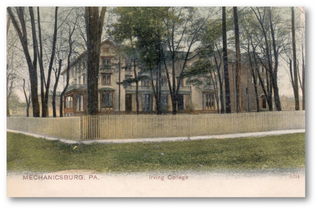 An old postcard of Irving College from 1903.