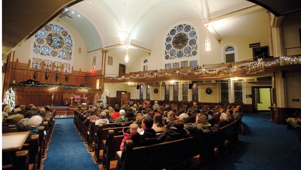 Inside the First United Methodist Church of Ironton in 2015. Photo from the Ironton Tribune.