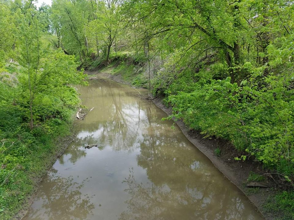 Creek running on South Side of Brigde
