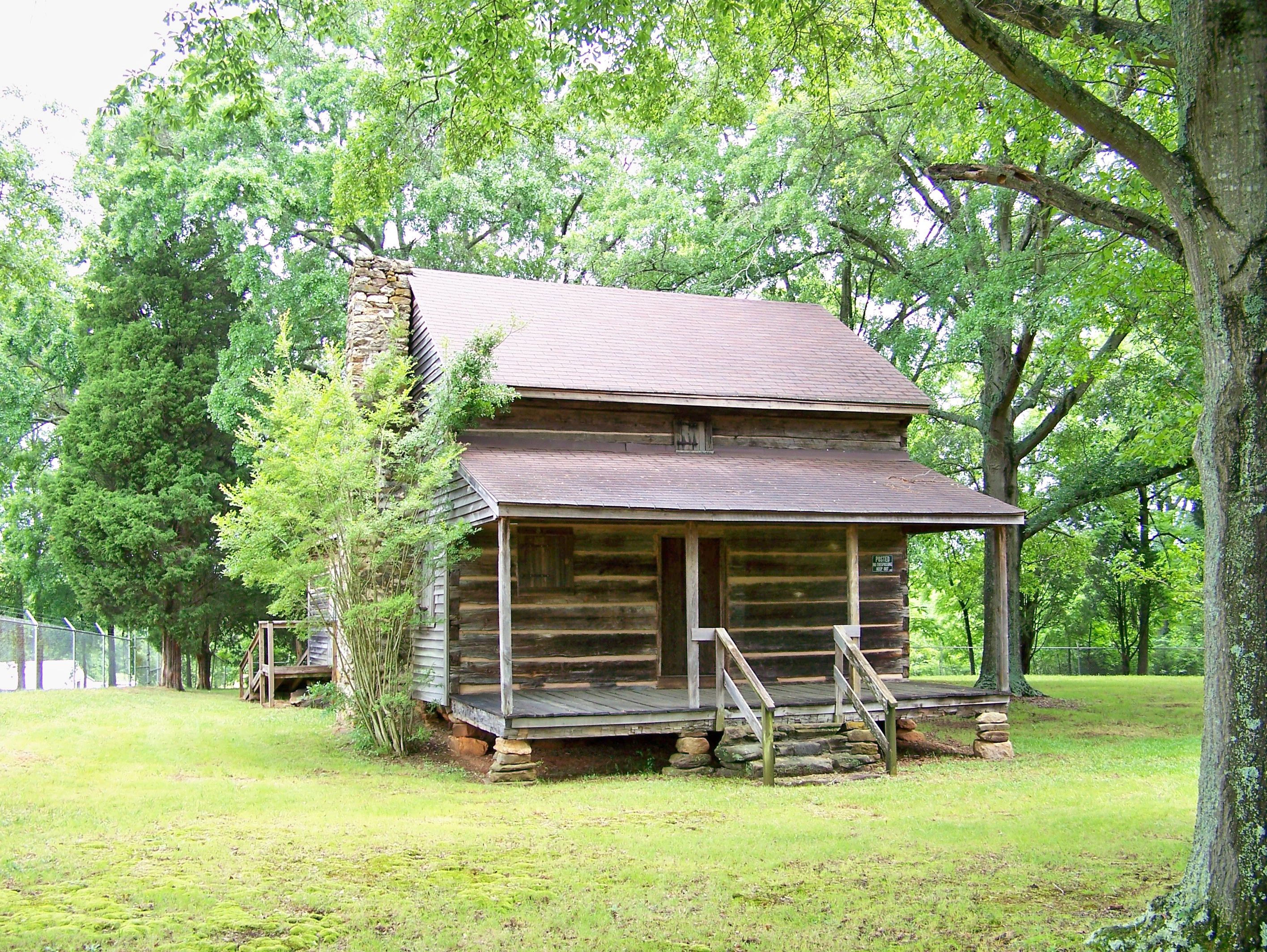This historic log home was constructed in the late 18th century by a veteran of the American Revolution.
