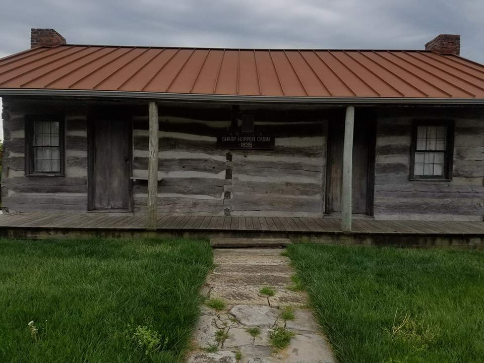 This log cabin was constructed in 1835.