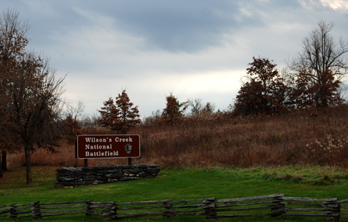 Wilson's Creek National Battlefield Sign at entrance