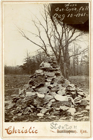 Union troops returned after the battle for several years marking the spot where Gen. Lyon fell.
