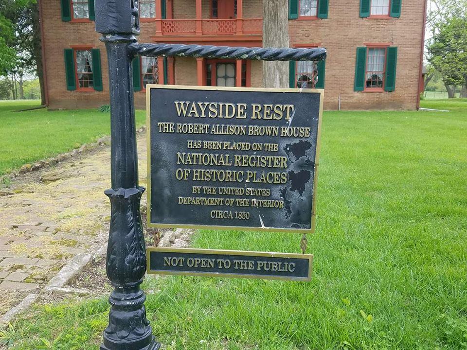 Robert A Brown House Sign