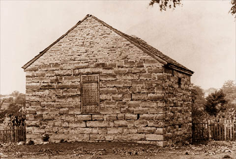 A photo of the historic Liberty Jail