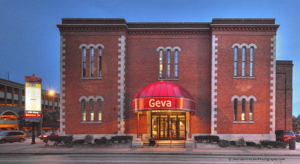 Front of the Geva Theatre Center building