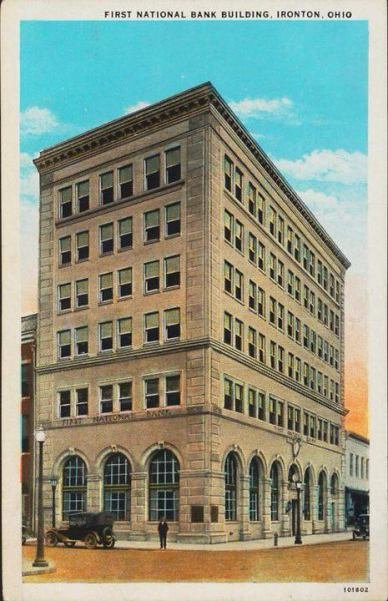 Illustration of the First National Bank Building in Ironton