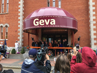 Re-dedication riboncutting ceremony for the Geva Theatre Center in 2016