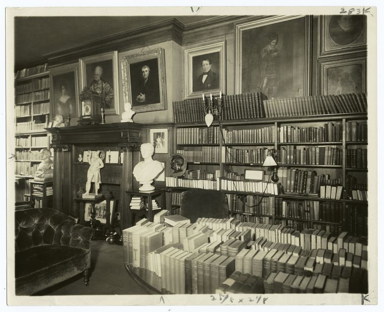 The Library, before alterations. Dated 1895.