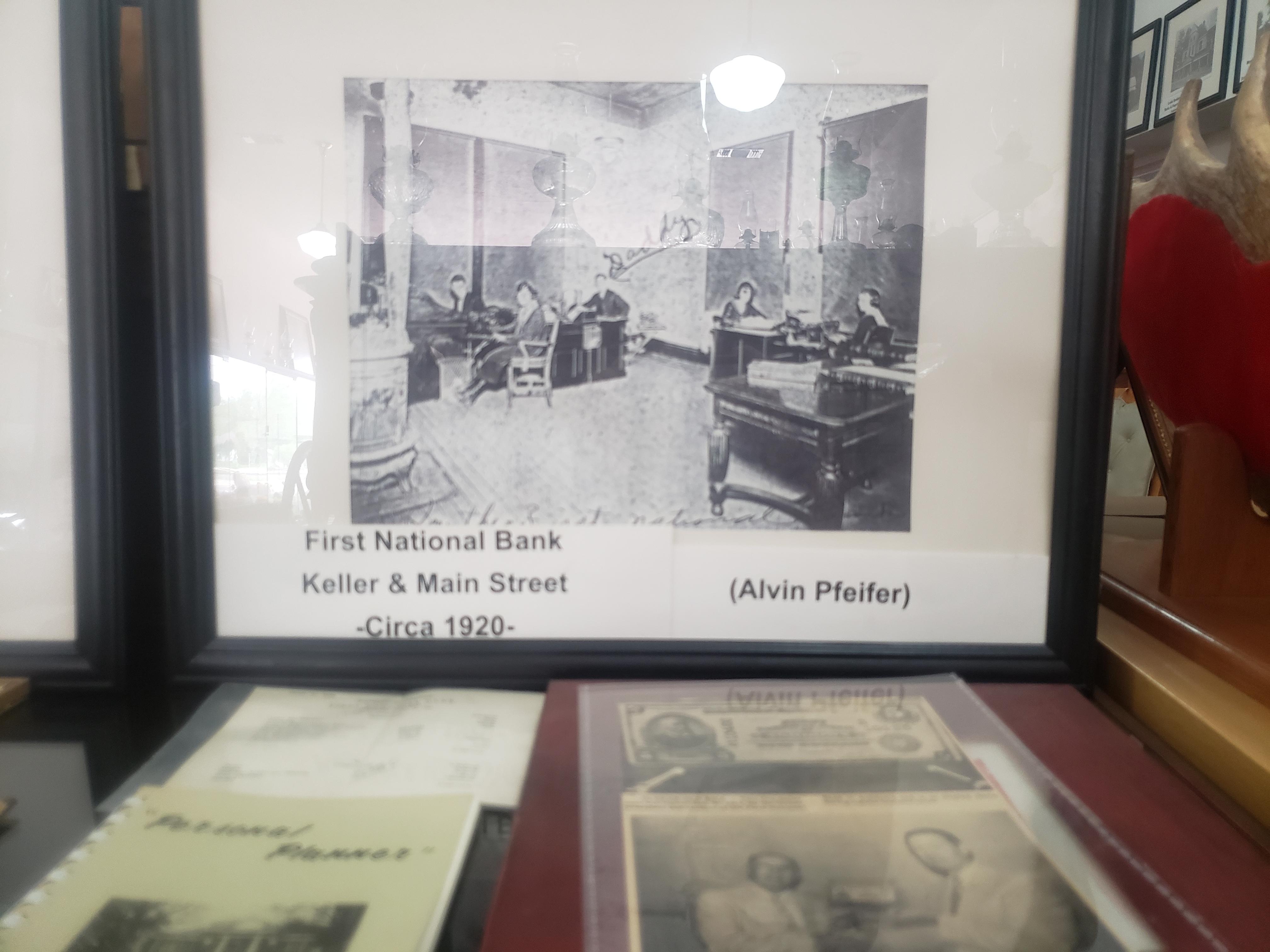 First National Bank Keller & Main Street. circa 1920.