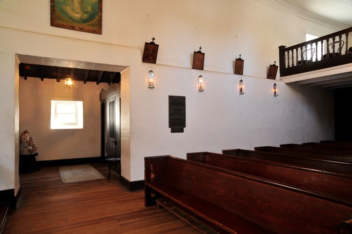 View inside the chapel