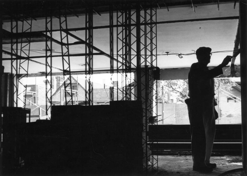 "Cobeen Hall construction, 1965 (""Department of Special Collections and University Archives, Marquette University Libraries, MUA_CB_01099)"