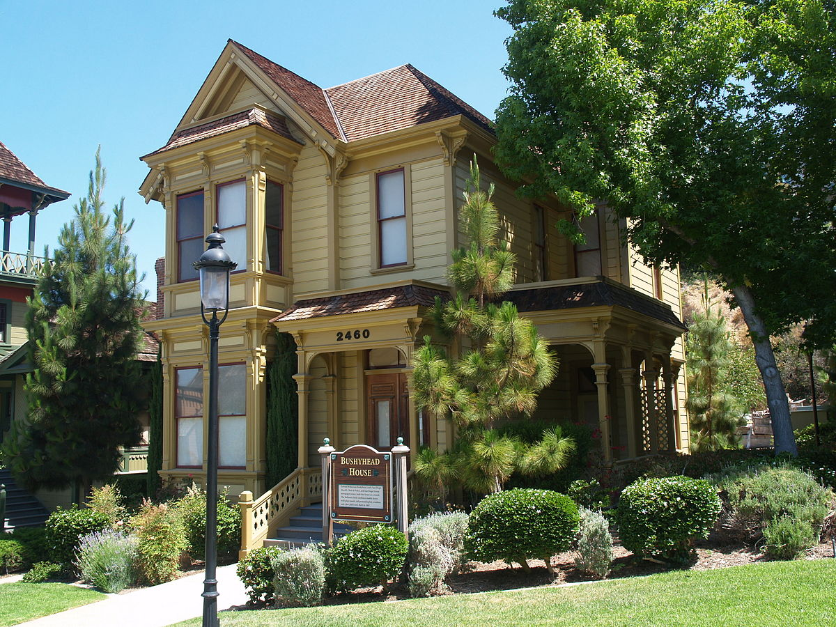 Bushyhead House- one of many Victorian homes in the park, was built by the chief of police and San Diego Union newspaper owner in 1887