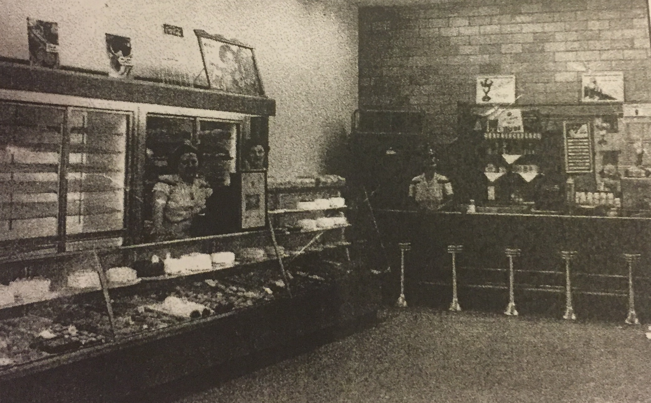 Inside of Tipton's Bakery