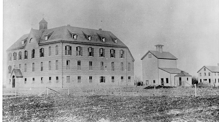 St. Joseph's Indian Normal School as it appeared in 1888