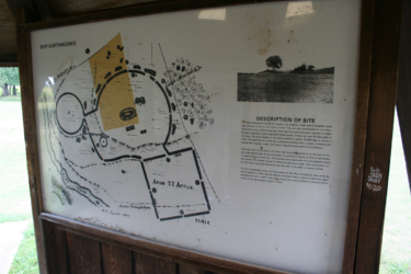 Picture showing what remains today of the original earthwork.