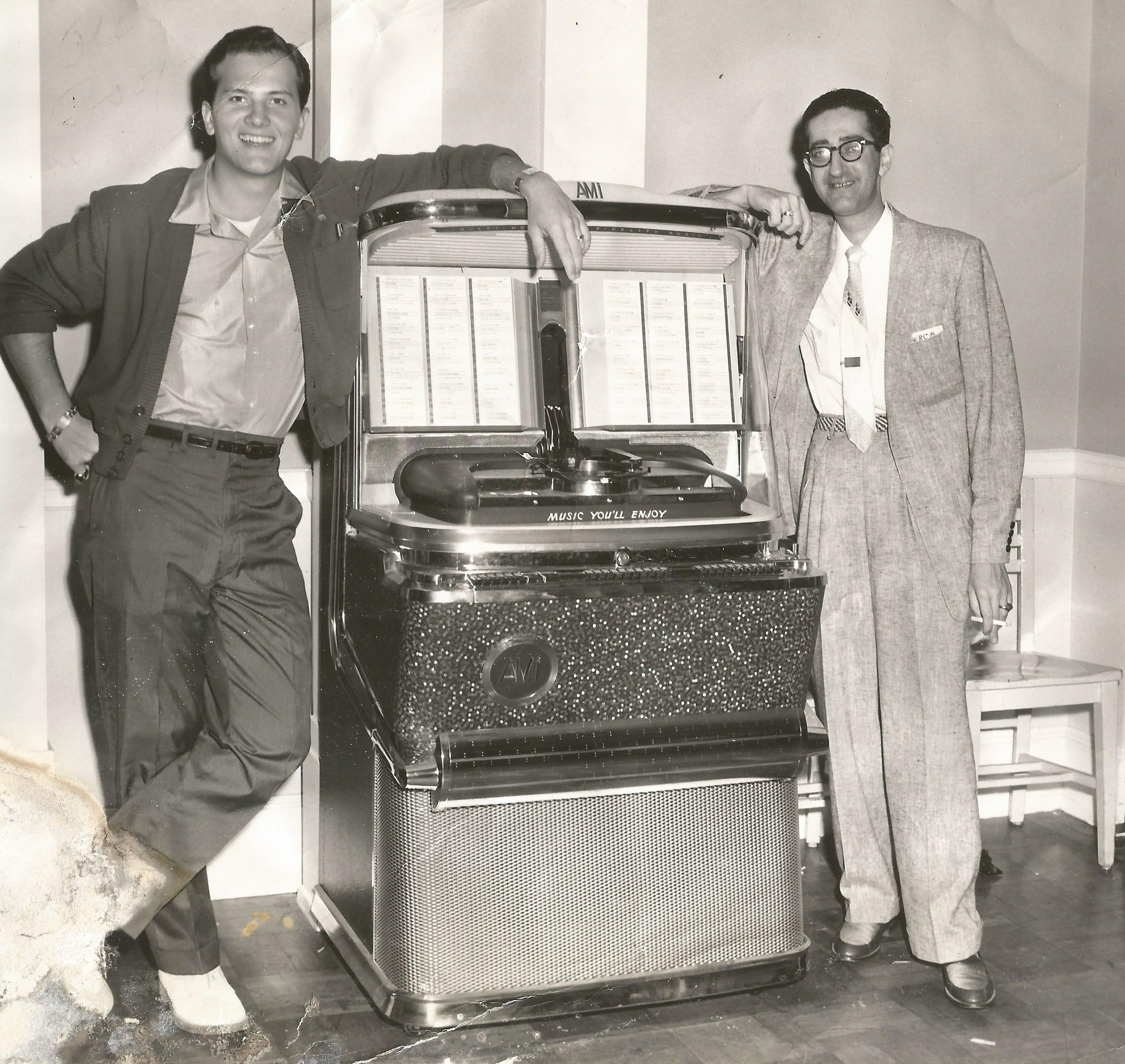 Owner Ruben Cherry (right) with Pat Boone (left)