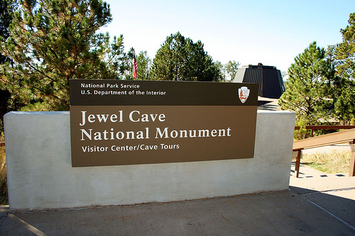 Jewel Cave National Monument Sign