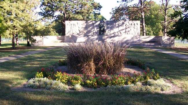 The Munn Pioneer Memorial was completed in 1939.