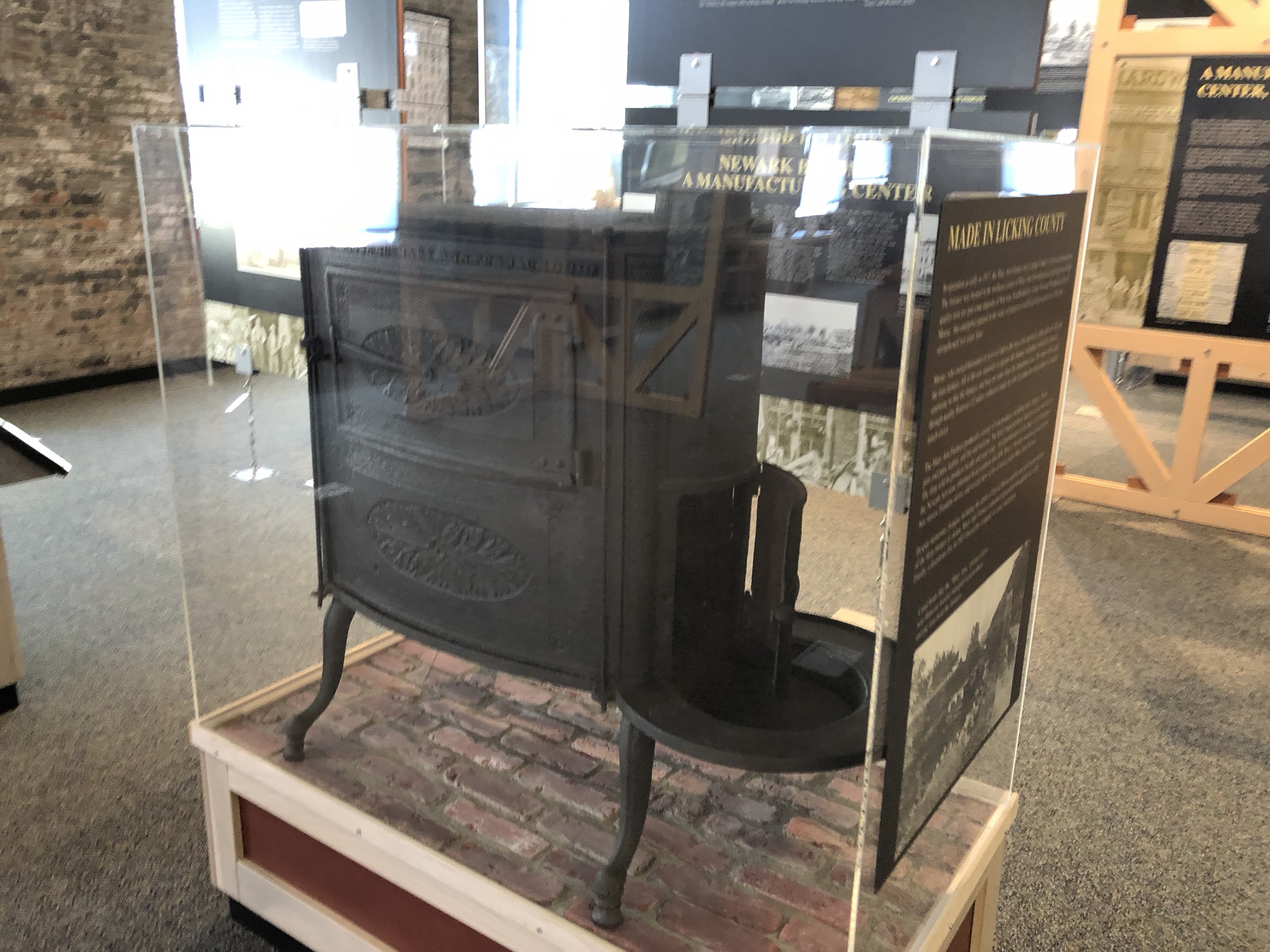This stove was manufactured at the Mary Ann Furnace, Licking County's earliest factory.