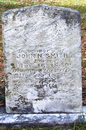 John Smith's tombstone