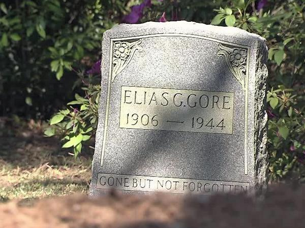 Elias Gore's tombstone