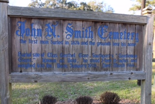 John N Smith Cemetery sign