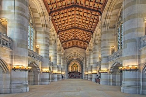 The nave of the library (Yale University Library)