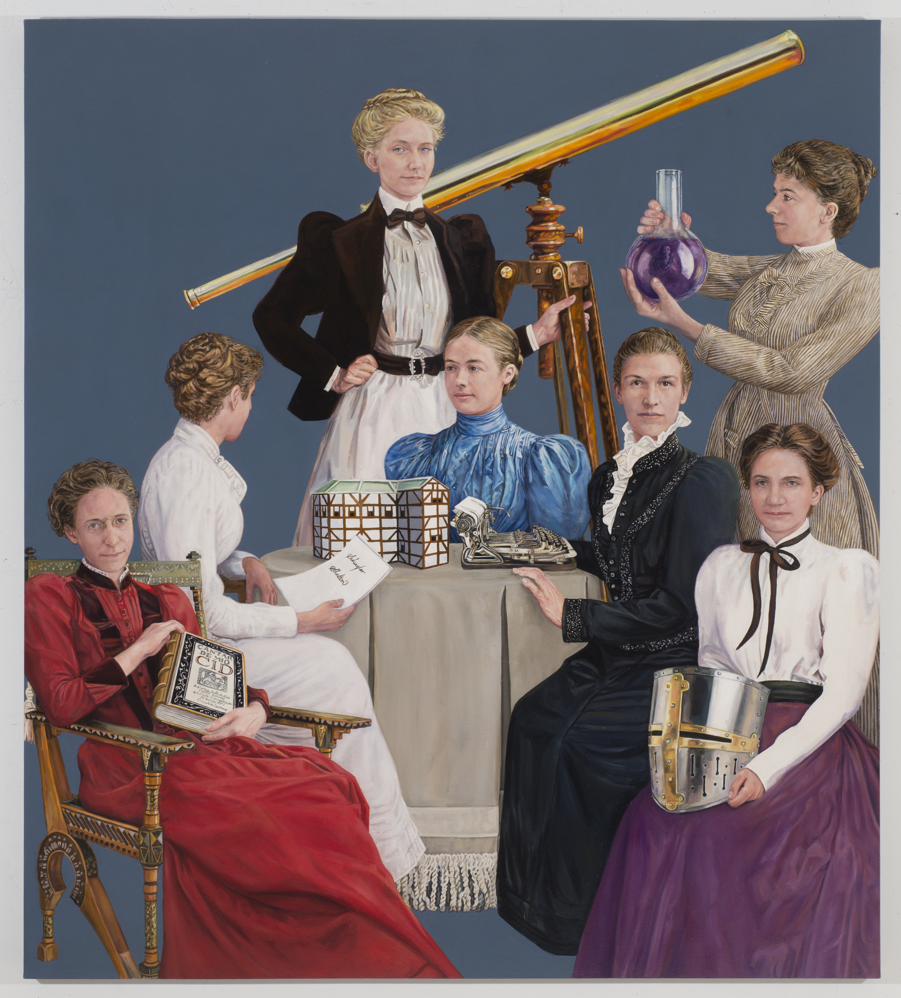 Brenda Zlamany's 2015 painting depicting the first seven female PhDs to graduate from Yale (Yale University Visitor Center)