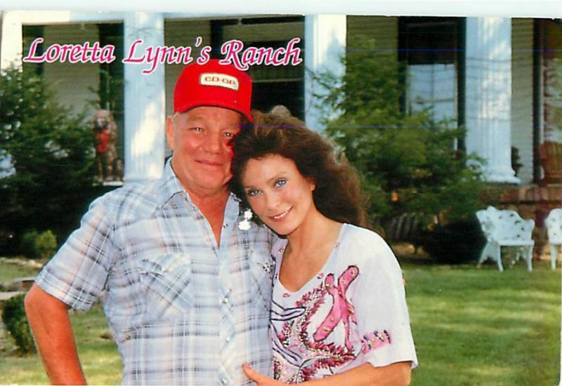 A Postcard from the Late 1980s Featuring Loretta and Mooney at the Ranch