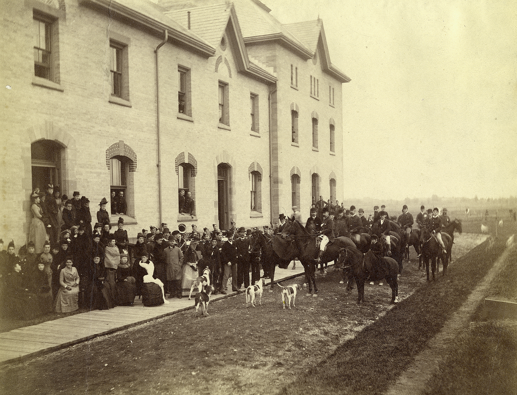 Fox Hunt at The Infantry School Building c. 1890