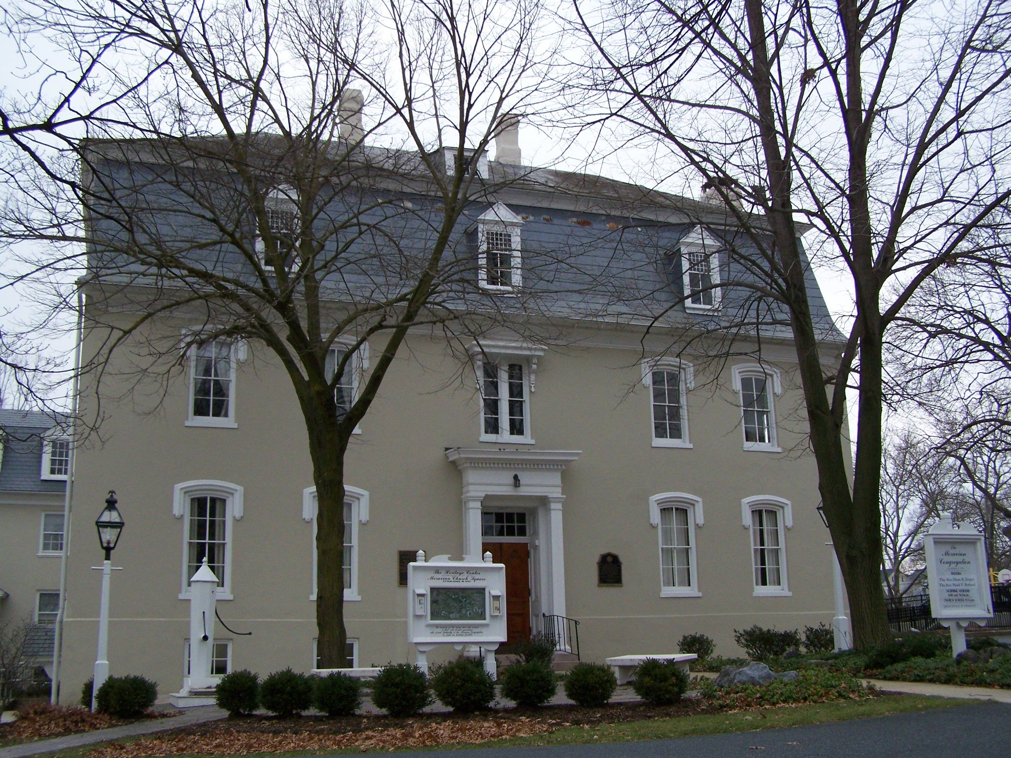 Brethren's House today, site of the Lititz Pharmacopoeia historical marker.