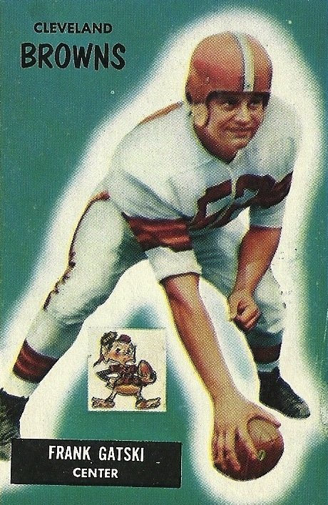Frank Gatski played for the Cleveland Browns for 11 seasons from 1946-1956 and won eight championship games. Image obtained from Wikimedia.