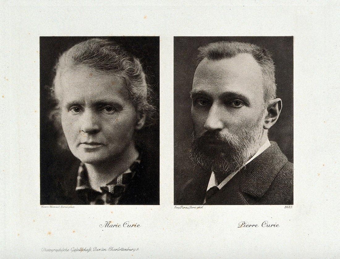Portraits of Marie and Pierre Curie, Photogravure after Henri Manuel and Eugene Pirou, Wellcome Collection  CC BY