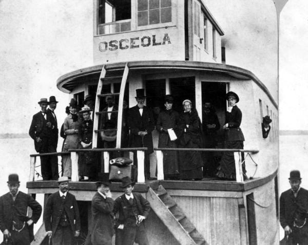 "The ""Osceola"" was the first built and launched steamboat from Buffalo in 1838."