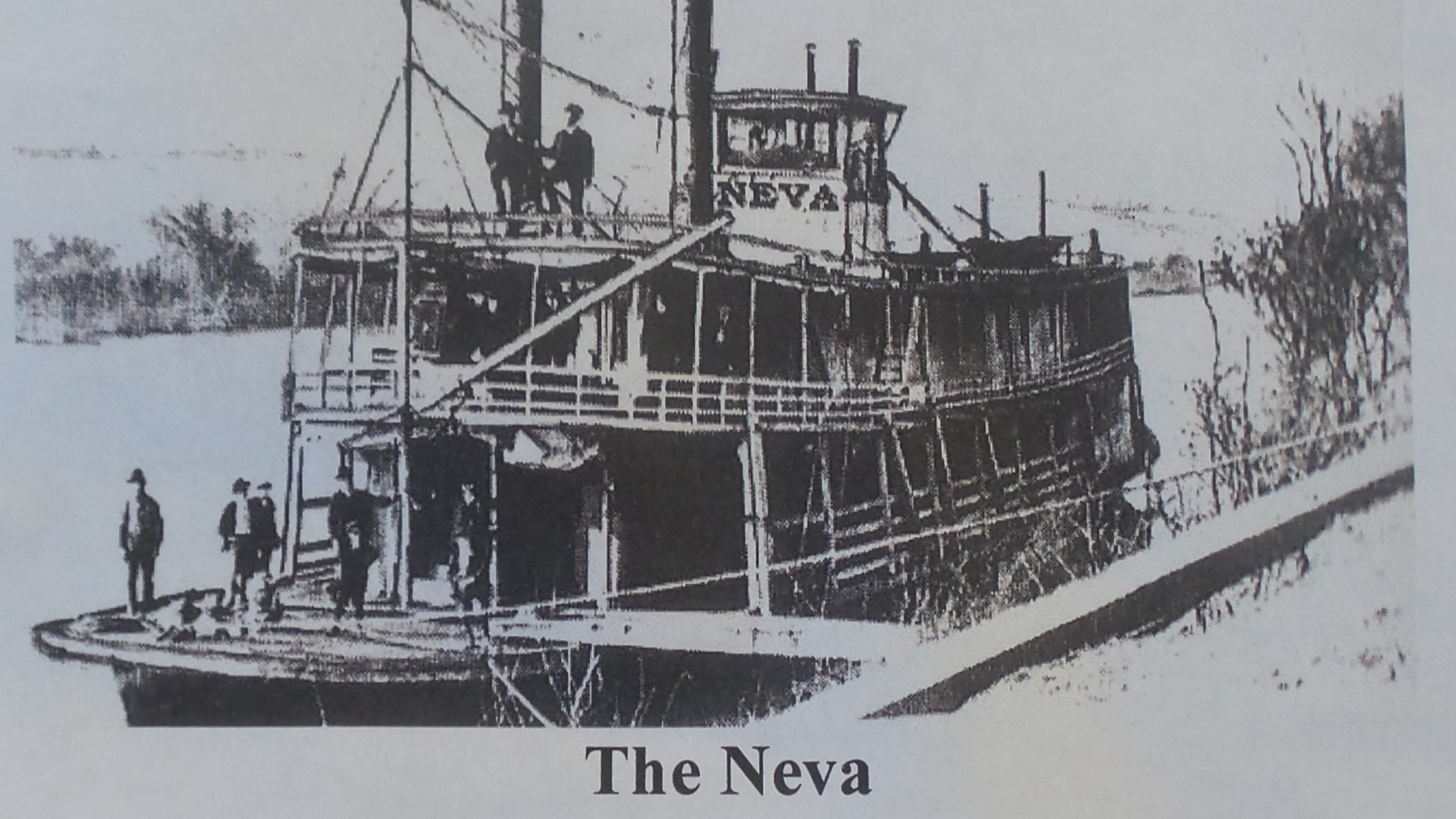 The Neva, burnt at Buffalo on July 26th 1908