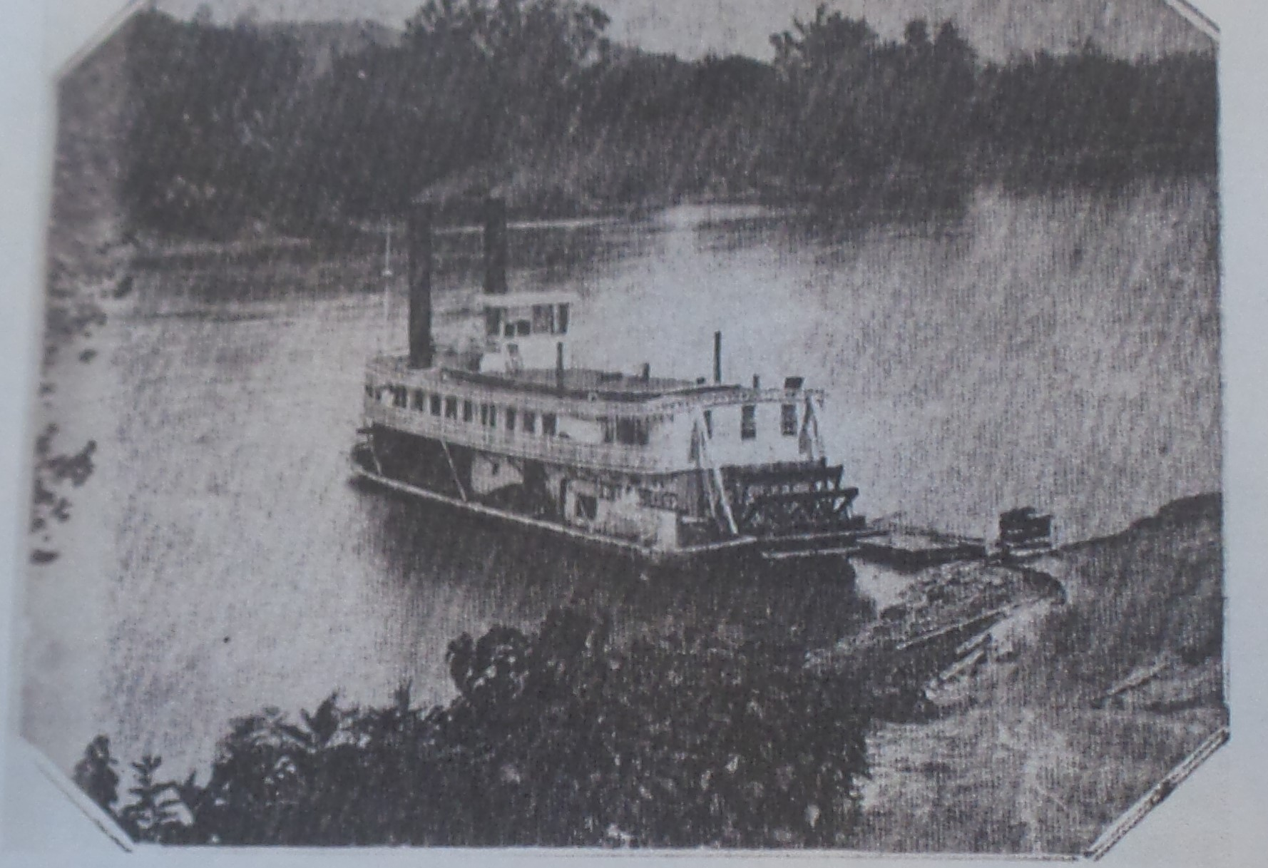 Stream boat docked at Buffalo early 1900s
