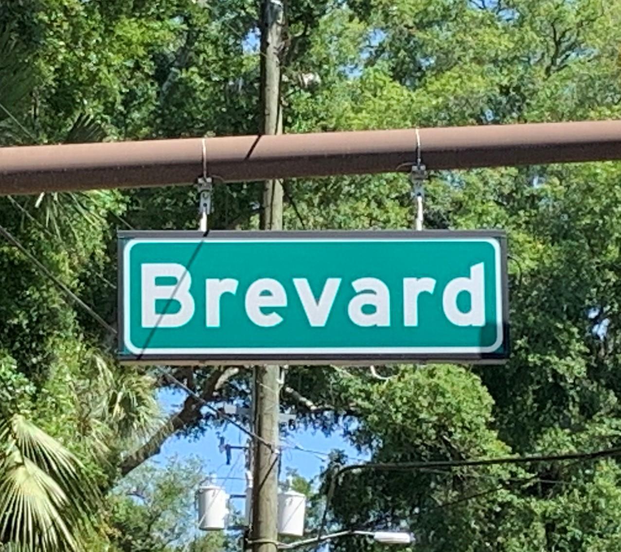 Brevard Street signage