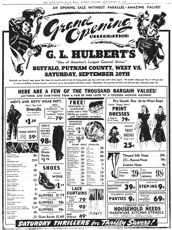 Local Ad for opening day