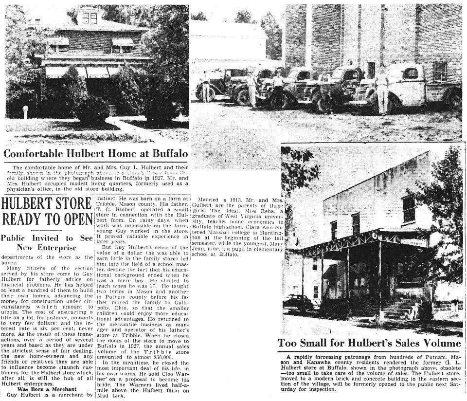 Local Newspaper Articles (Upper left) G. L. Hulbert's home
